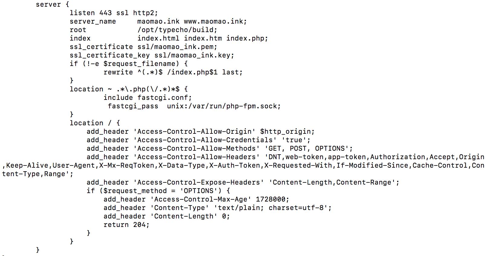 Nginx解决跨域资源问题:No 'Access-Control-Allow-Origin